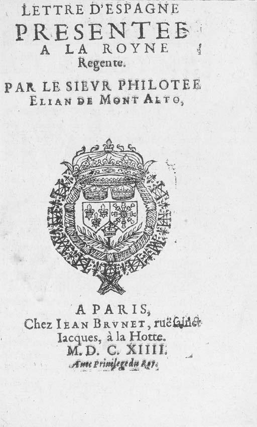 MONTALTO, Filoteo Eliao de (15