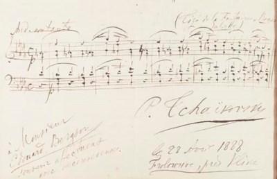 TCHAIKOVSKY, Peter Ilyich (184