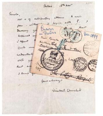 CHURCHILL, Sir W.L.S. Autograp