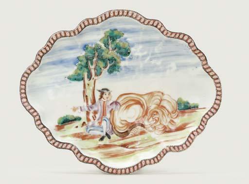 A FAMILLE ROSE OVAL TUREEN-STA
