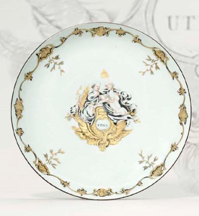 A GRISAILLE AND GILT 'UTICA' S