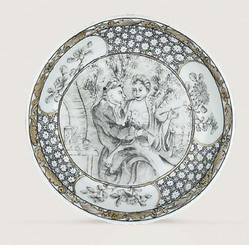 A GRISAILLE AND GILT EUROPEAN-