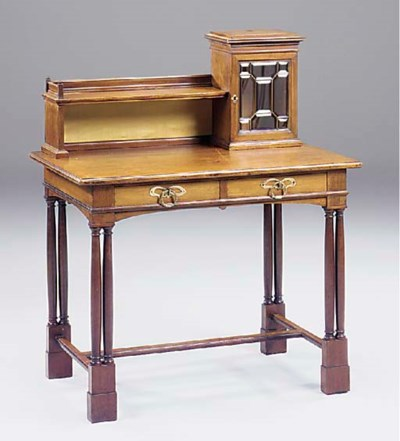 A German mahogany writing tabl
