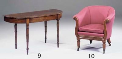 An early Victorian mahogany ly