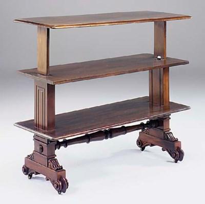 An early Victorian mahogany me