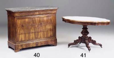 A French walnut commode, early