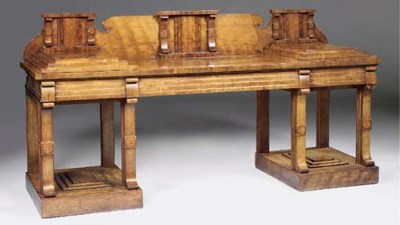 A mahogany and rosewood pedest