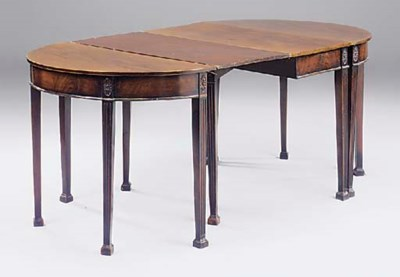 A mahogany dining table in thr