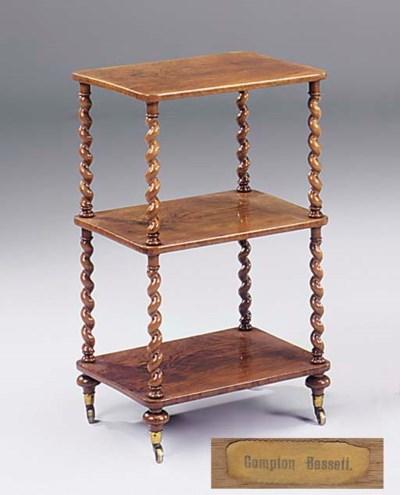 An early Victorian mahogany th