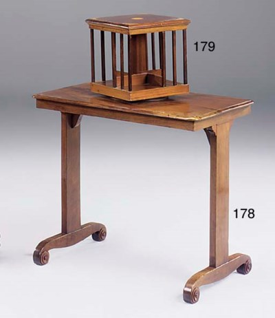 A mahogany writing table, part