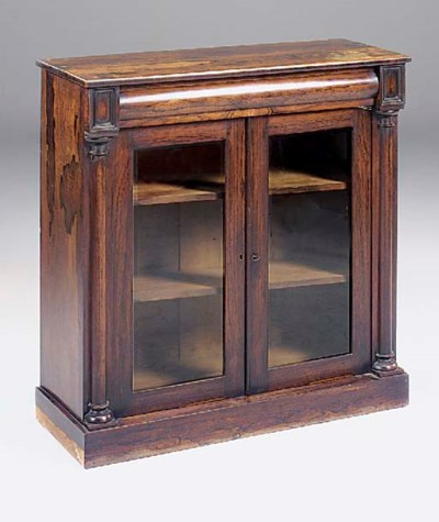 An early Victorian rosewood si