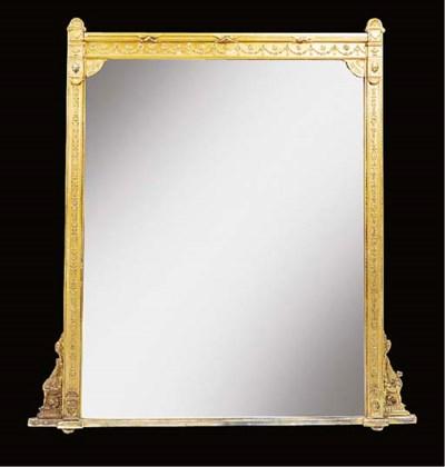 A late Victorian gilt composit