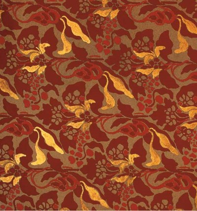 Five textile designs, one in t