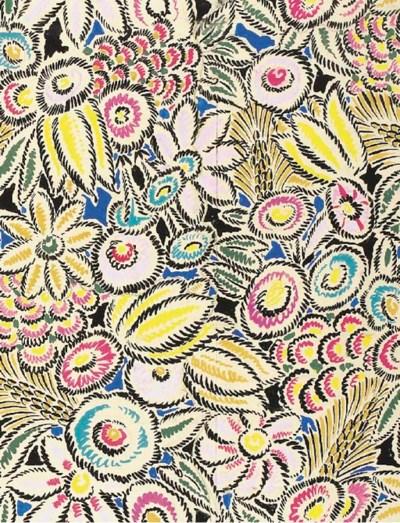 Floral bodycolour design for p