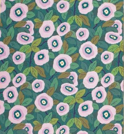 Six designs for floral textile