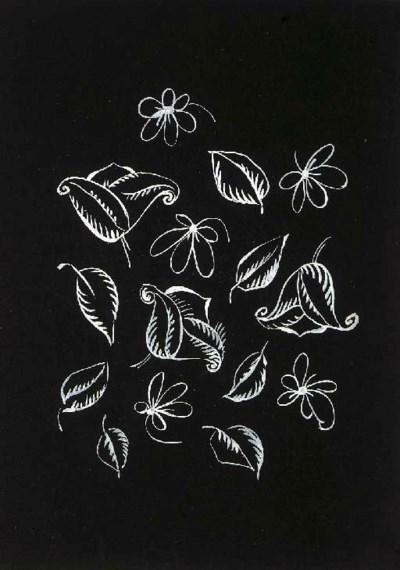 Raoul Dufy, a design of scroll