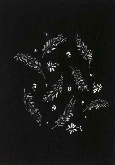 Raoul Dufy, a design of feathe