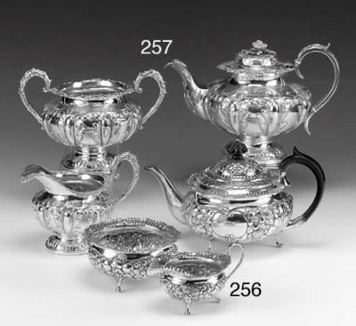 A Victorian Silver Three-Piece