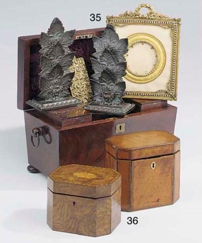 A William IV mahogany tea cadd