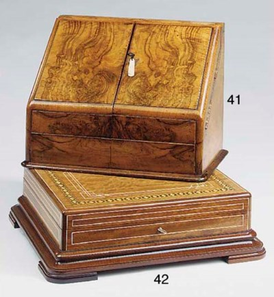 A Victorian walnut stationery