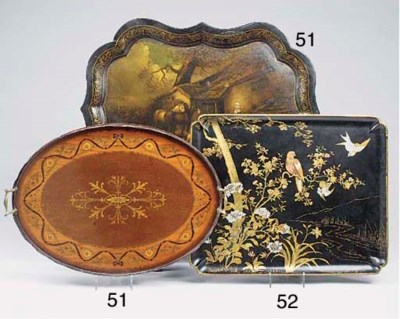 A Japanese gilt heightened lac