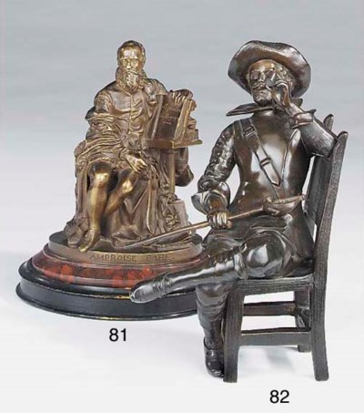 A French bronze model of Ambro