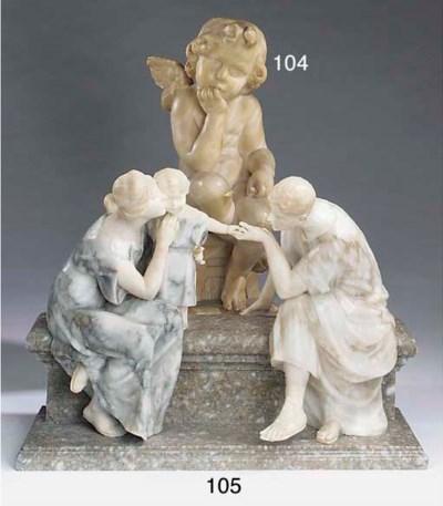 An Italian sculpted alabaster