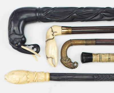 A Victorian ivory mounted walk