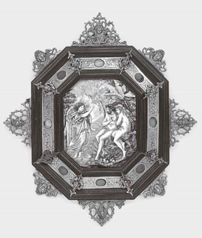 A Neapolitan glazed ceramic wa
