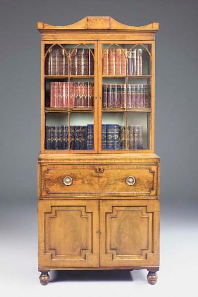 A Regency mahogany secretaire