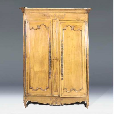 A French cherry wood armoire,
