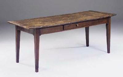 A French oak kitchen table, 20