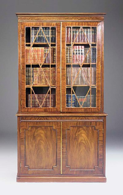 A mahogany bookcase, parts 19t
