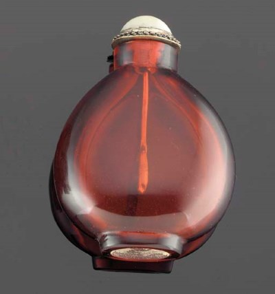A Chinese ruby coloured glass