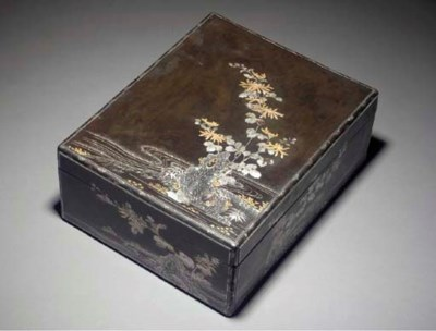 A large lacquer document box w