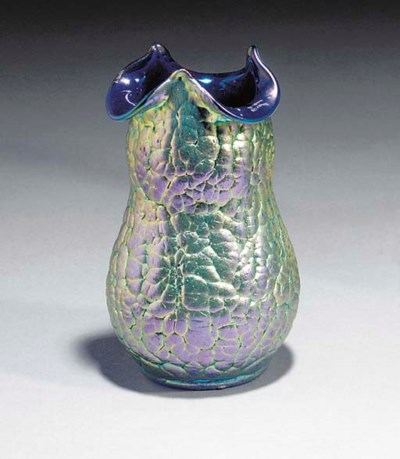 'LAVA' AN IRIDESCENT GLASS VAS