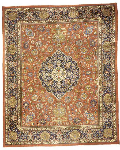 A fine Narvani Tabriz carpet,