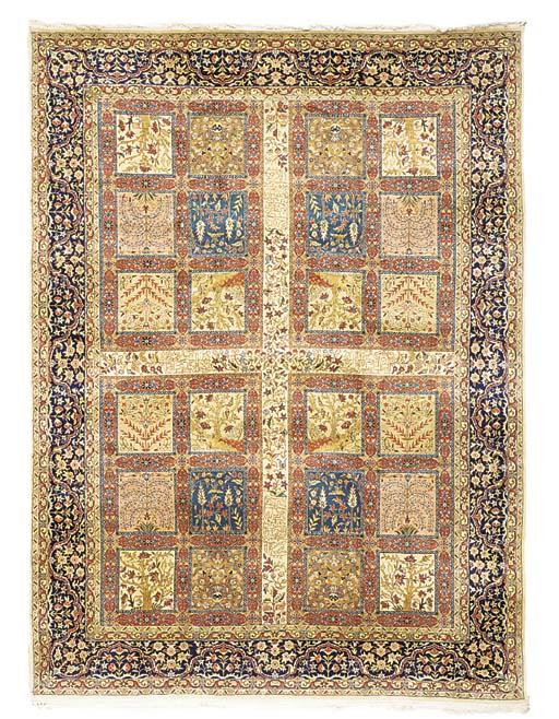 A fine carpet of Tabriz garden