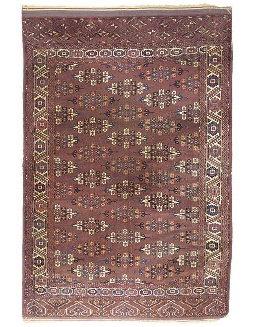 A fine Yomut carpet, West Turk
