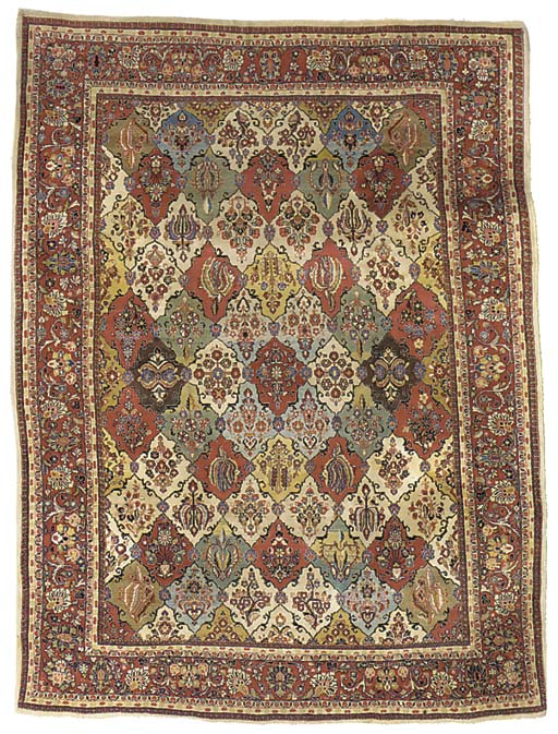A fine Sarouk carpet of Garden