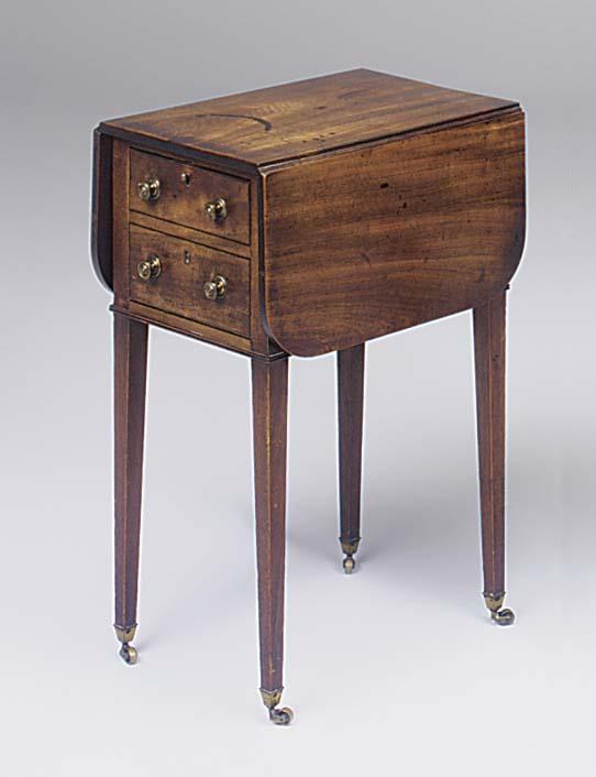 A George IV mahogany and inlai