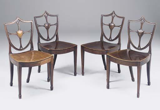 A set of four George III mahog