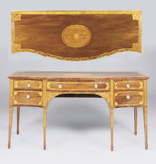 A George III mahogany satinwoo