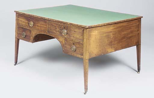 A George III mahogany writing