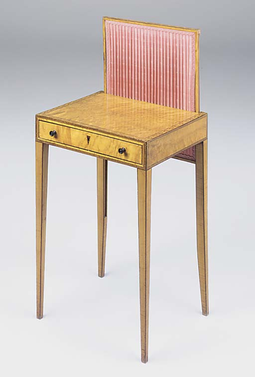 A George III satinwood and inl