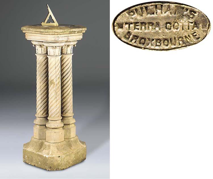 An English stoneware pedestal