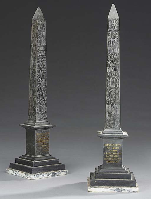 A pair of Italian marmo nero b