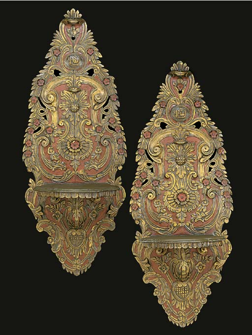 A pair of Turkish parcel-gilt,