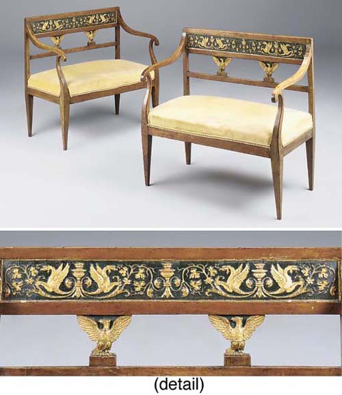 A pair of Baltic fruitwood and