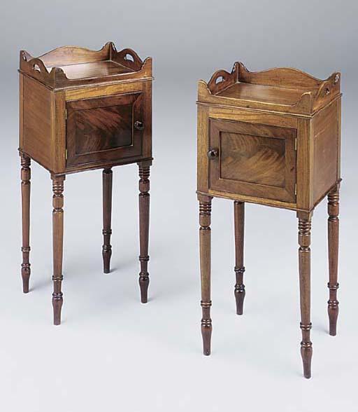 A pair of mahogany tray top be